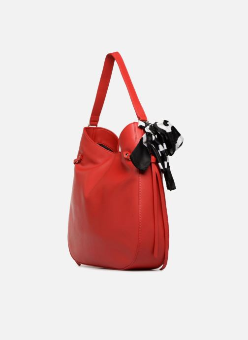 Handtaschen Love Moschino Lettering Hobo rot ansicht von rechts