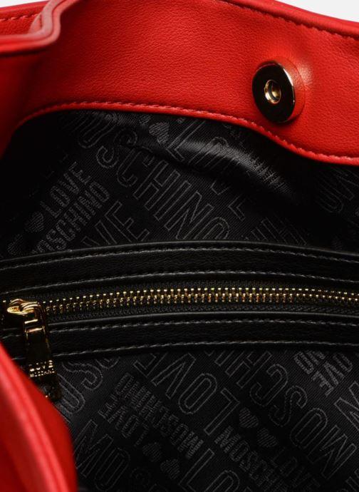 Handtaschen Love Moschino Lettering Hobo rot ansicht von hinten