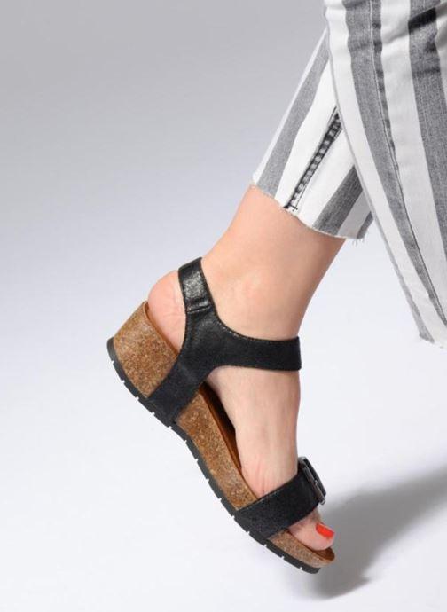 Sandales et nu-pieds Les P'tites Bombes Narcisse 2 Noir vue bas / vue portée sac