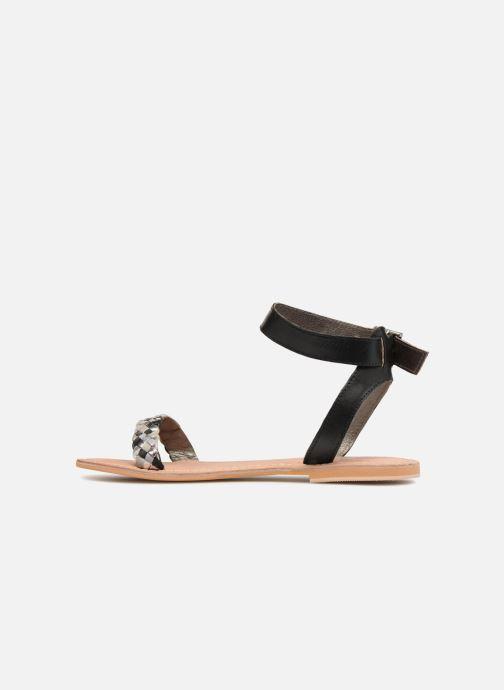 Sandales et nu-pieds Initiale Paris MAEDANE Noir vue face