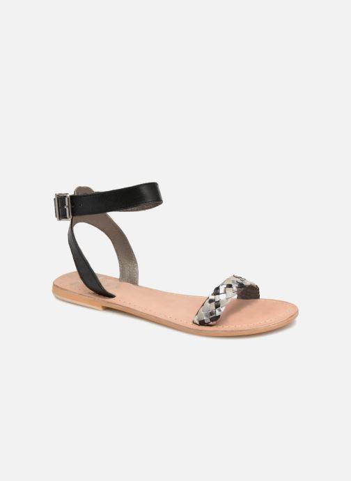 Sandales et nu-pieds Initiale Paris MAEDANE Noir vue détail/paire