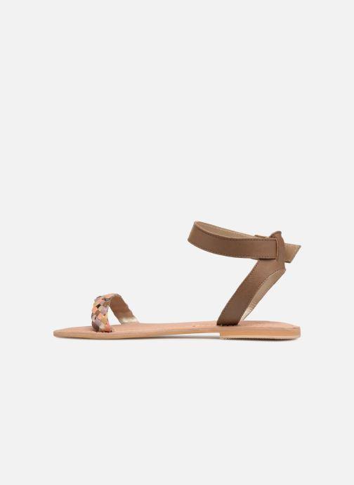 Sandales et nu-pieds Initiale Paris MAEDANE Marron vue face