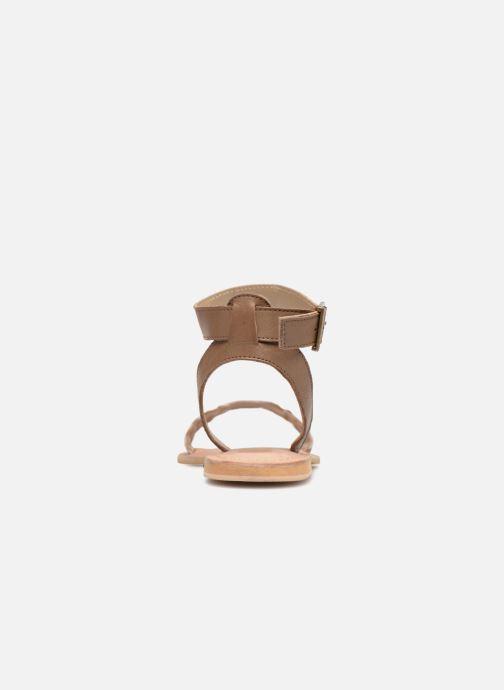 Sandales et nu-pieds Initiale Paris MAEDANE Marron vue droite