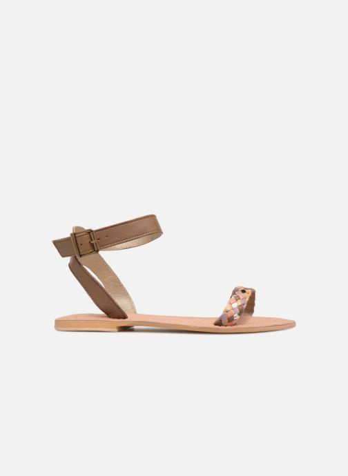 Sandales et nu-pieds Initiale Paris MAEDANE Marron vue derrière