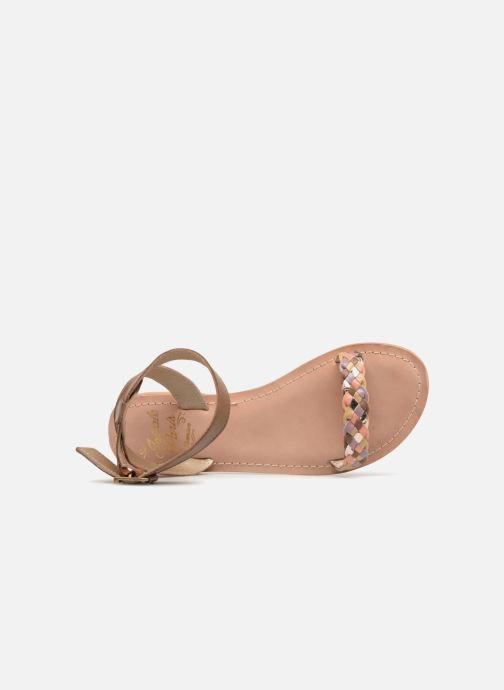 Sandales et nu-pieds Initiale Paris MAEDANE Marron vue gauche