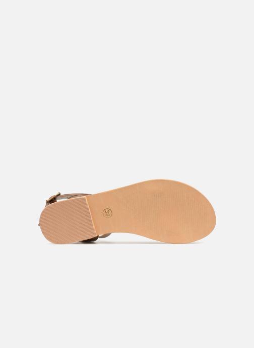Sandales et nu-pieds Initiale Paris MAEDANE Marron vue haut