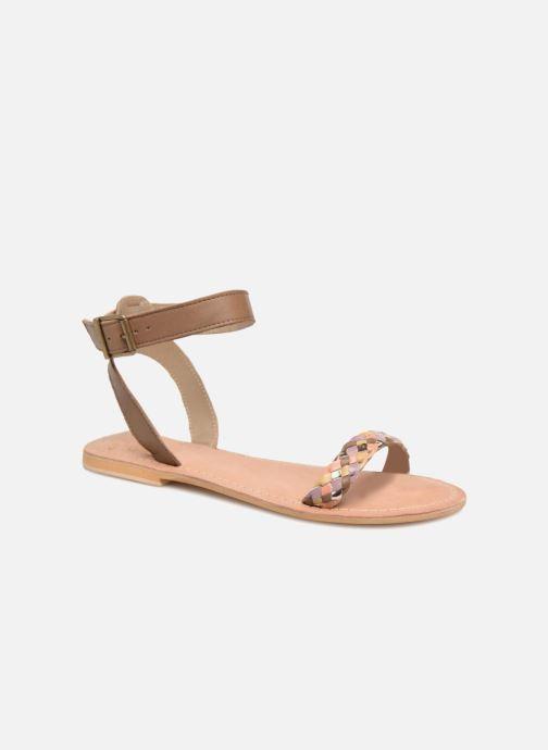 Sandales et nu-pieds Initiale Paris MAEDANE Marron vue détail/paire
