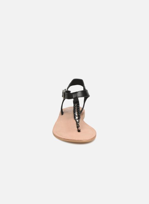 Sandales et nu-pieds Initiale Paris MAKOTO Noir vue portées chaussures