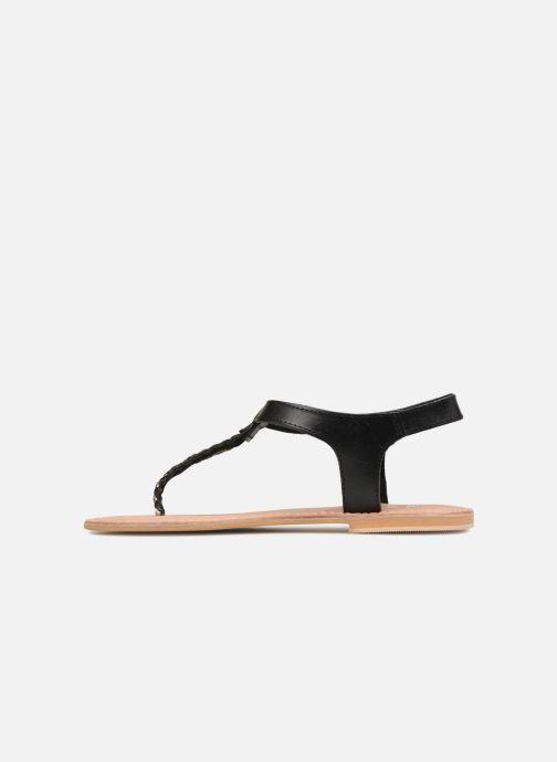 Sandales et nu-pieds Initiale Paris MAKOTO Noir vue face