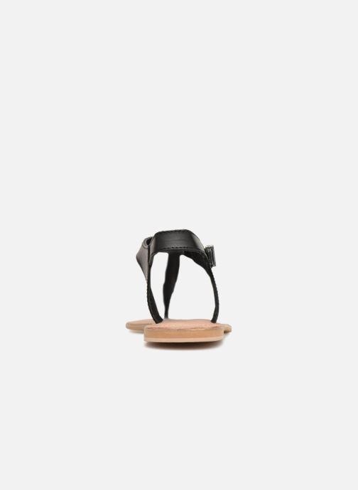 Sandales et nu-pieds Initiale Paris MAKOTO Noir vue droite