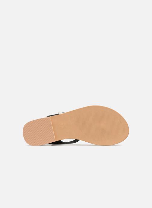 Sandales et nu-pieds Initiale Paris MAKOTO Noir vue haut