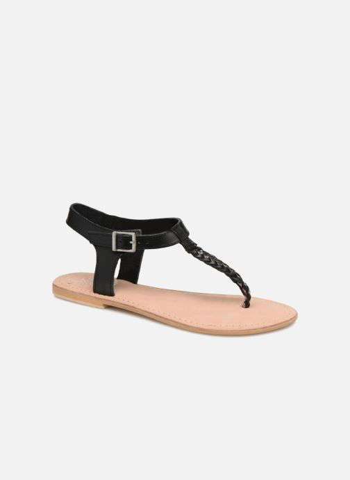 Sandales et nu-pieds Initiale Paris MAKOTO Noir vue détail/paire