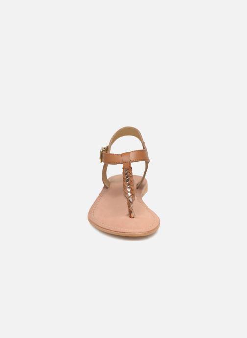 Sandales et nu-pieds Initiale Paris MAKOTO Marron vue portées chaussures