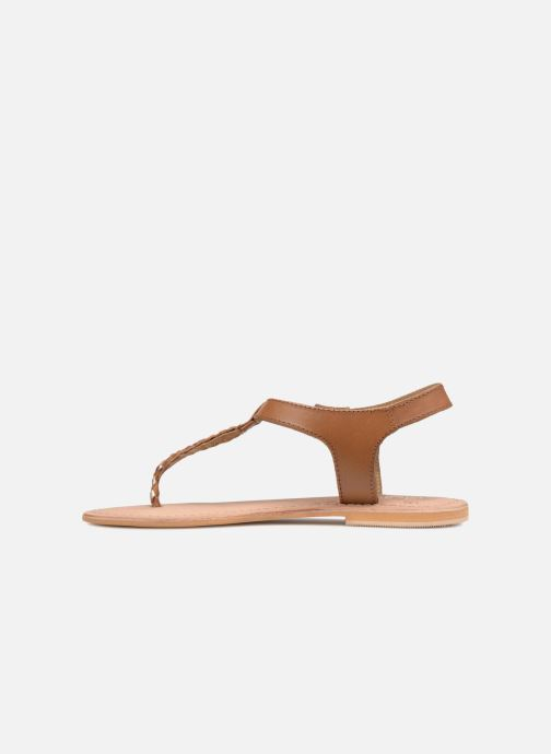 Sandalen Initiale Paris MAKOTO Bruin voorkant