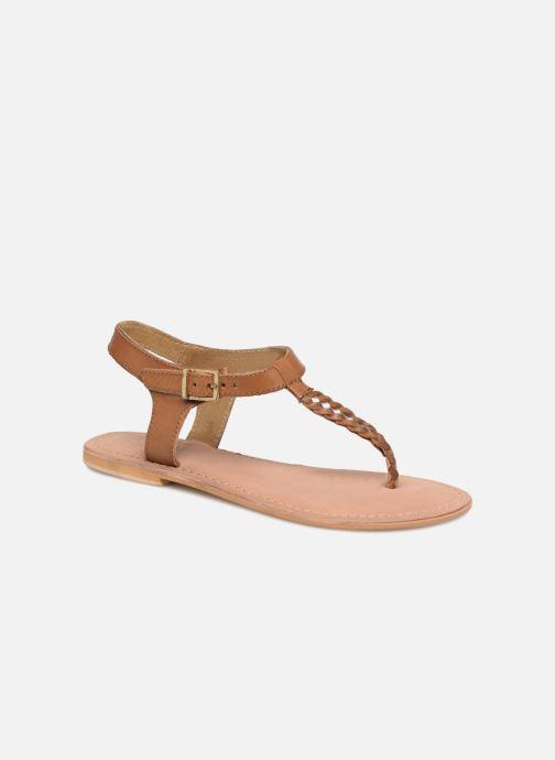 Sandales et nu-pieds Initiale Paris MAKOTO Marron vue détail/paire