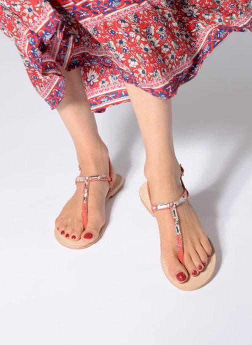 Sandales et nu-pieds Initiale Paris NESSE Rose vue bas / vue portée sac