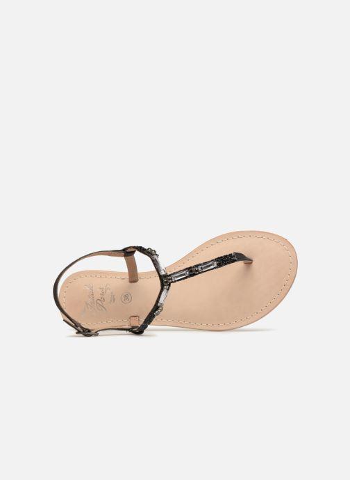Sandalen Initiale Paris NESSE schwarz ansicht von links