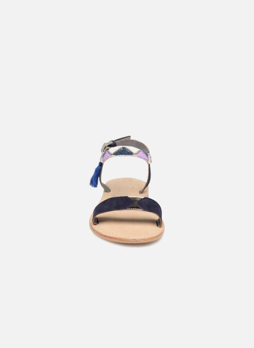 Sandalen Initiale Paris NEWTON blau schuhe getragen