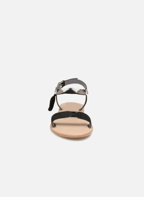 Sandales et nu-pieds Initiale Paris NEWTON Noir vue portées chaussures