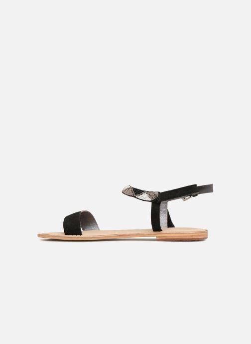 Sandales et nu-pieds Initiale Paris NEWTON Noir vue face