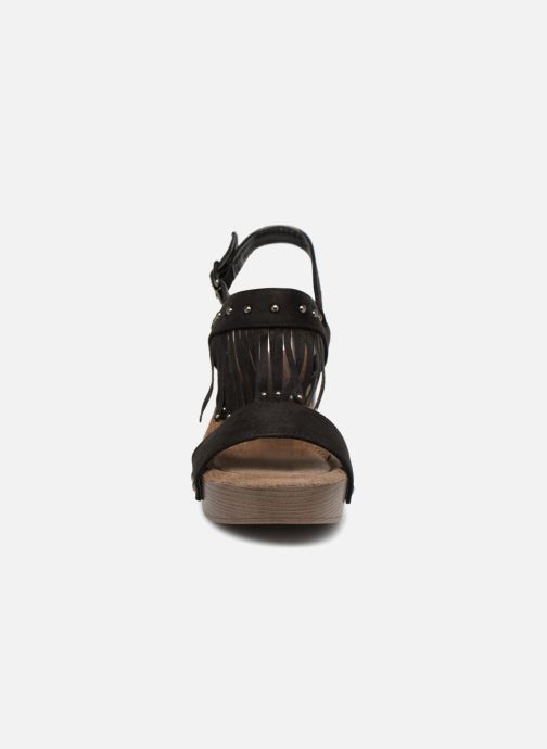 Sandales et nu-pieds Initiale Paris RAYANA Noir vue portées chaussures