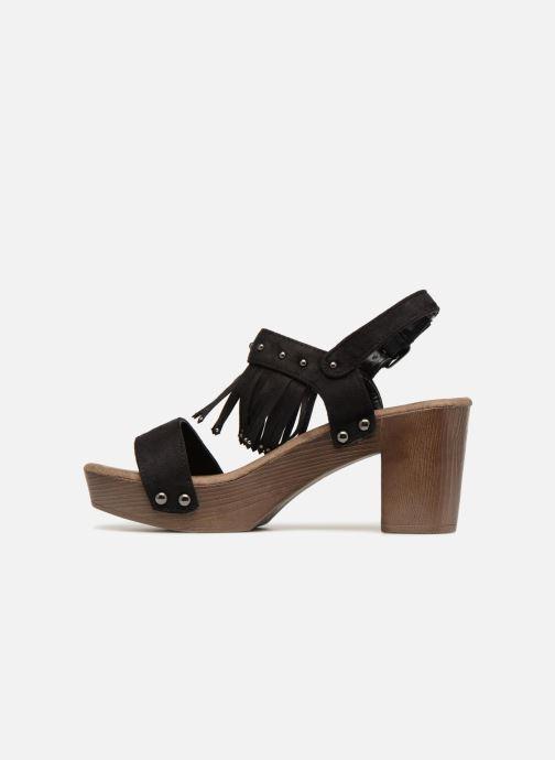 Sandales et nu-pieds Initiale Paris RAYANA Noir vue face
