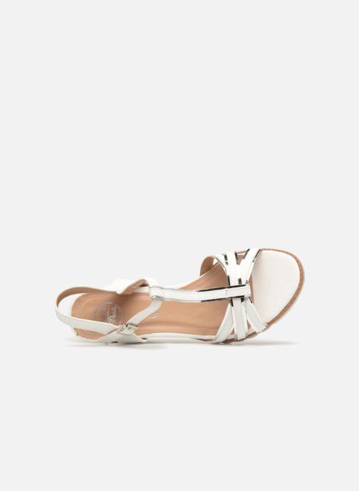 Sandales et nu-pieds Initiale Paris ROMANE Blanc vue gauche