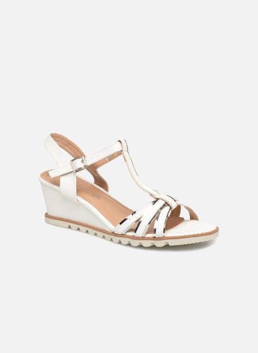 Sandales et nu-pieds Initiale Paris ROMANE Blanc vue détail/paire