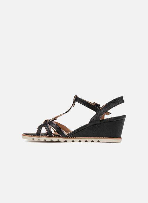 Sandales et nu-pieds Initiale Paris ROMANE Noir vue face
