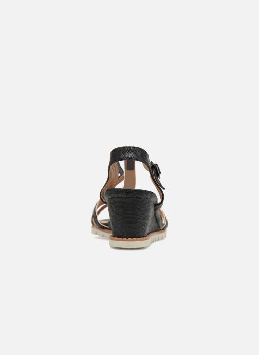Sandalen Initiale Paris ROMANE schwarz ansicht von rechts