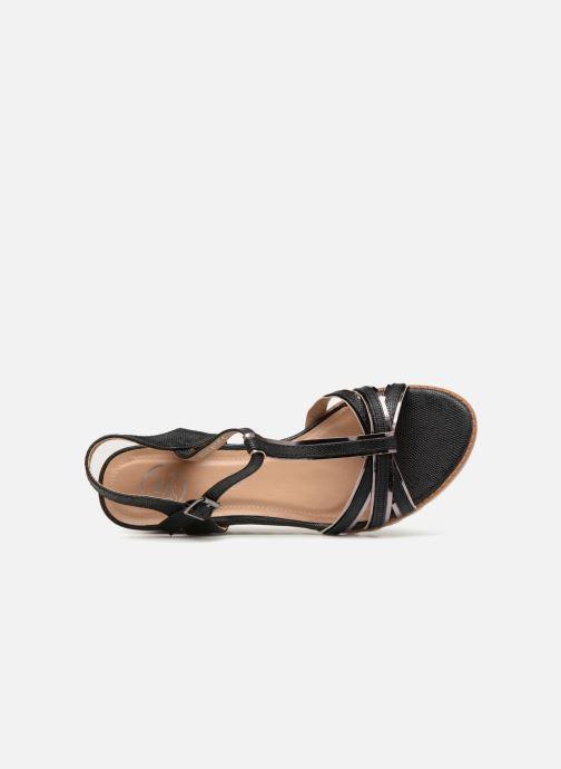 Sandalen Initiale Paris ROMANE schwarz ansicht von links
