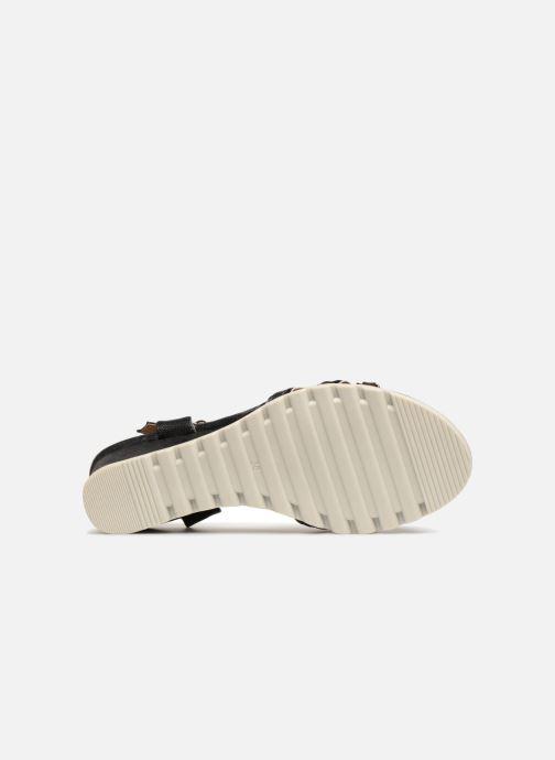 Sandalen Initiale Paris ROMANE schwarz ansicht von oben