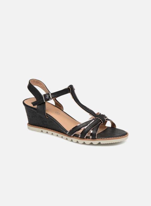 Sandales et nu-pieds Initiale Paris ROMANE Noir vue détail/paire