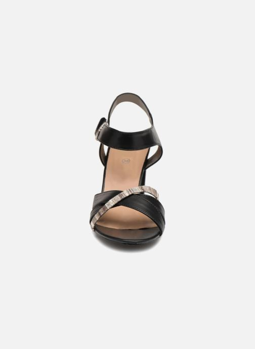 Sandales et nu-pieds Initiale Paris SCARLET Noir vue portées chaussures