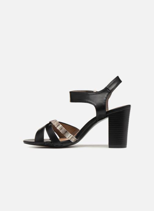Sandales et nu-pieds Initiale Paris SCARLET Noir vue face