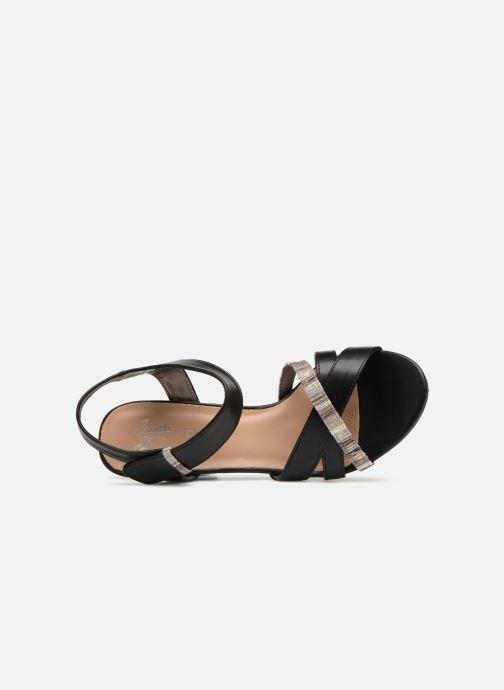 Sandales et nu-pieds Initiale Paris SCARLET Noir vue gauche