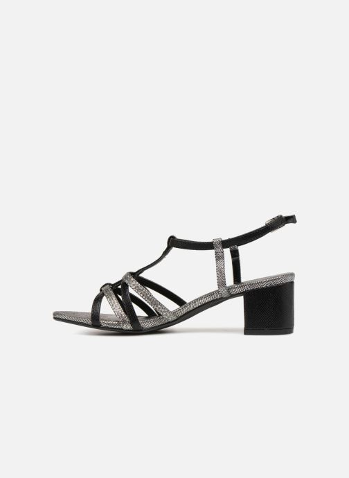 Sandales et nu-pieds Initiale Paris TANIA Noir vue face