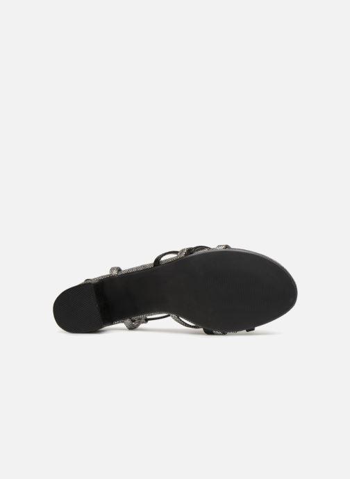 Sandales et nu-pieds Initiale Paris TANIA Noir vue haut