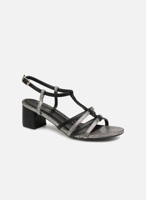 Sandales et nu-pieds Initiale Paris TANIA Noir vue détail/paire