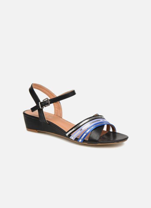 Sandales et nu-pieds Initiale Paris TILIZ Noir vue détail/paire