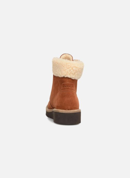 Ankle boots Esprit CORTILA LACE BOOTIE Brown view from the right