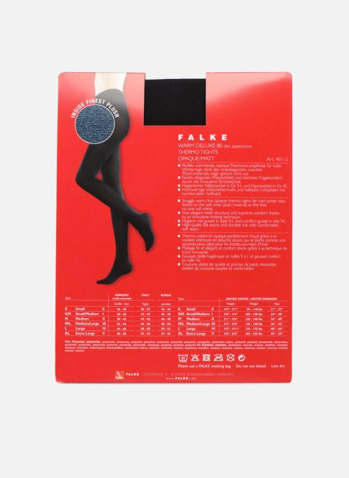 Chaussettes et collants Falke Collant WARM DELUXE 80 Noir vue portées chaussures