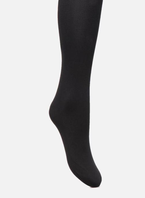 Chaussettes et collants Falke Collant WARM DELUXE 80 Noir vue face