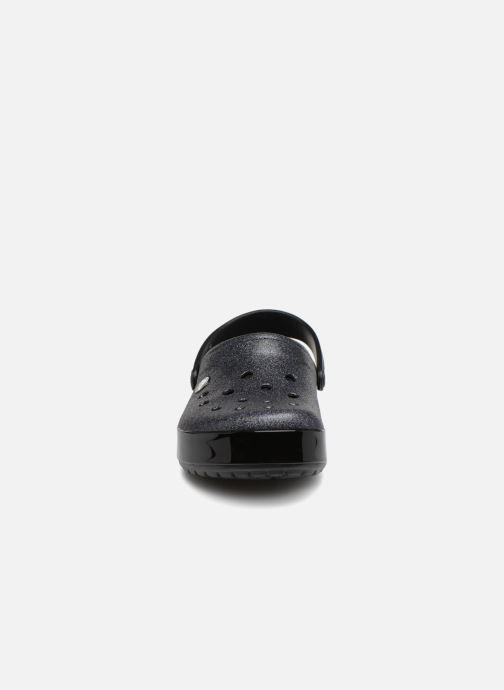 Mules et sabots Crocs Crocband Glitter Clog F Noir vue portées chaussures