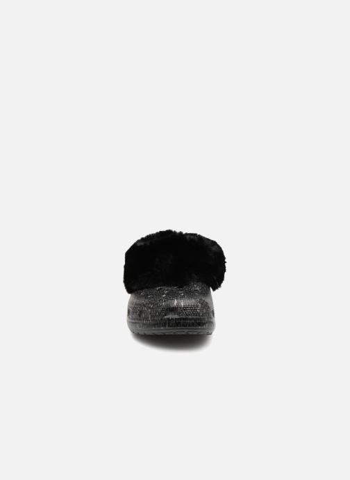 Mules et sabots Crocs Classic Mammoth Luxe Radiant Clog Noir vue portées chaussures