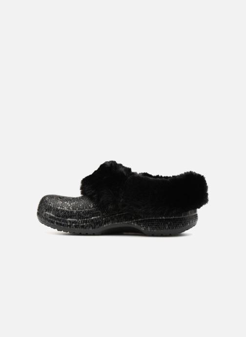 Wedges Crocs Classic Mammoth Luxe Radiant Clog Zwart voorkant