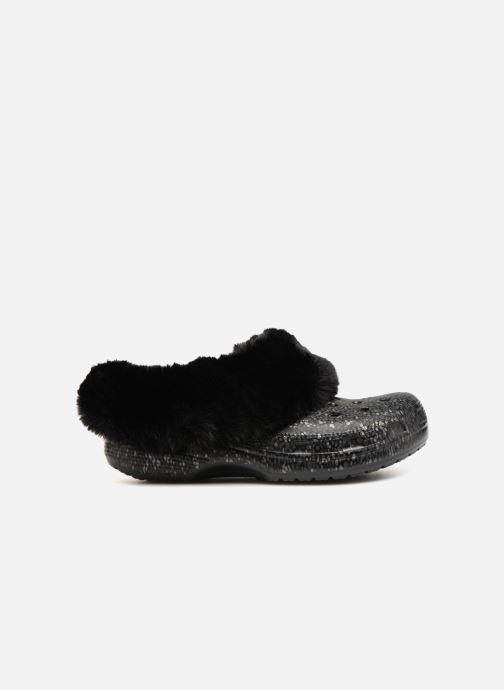 Wedges Crocs Classic Mammoth Luxe Radiant Clog Zwart achterkant