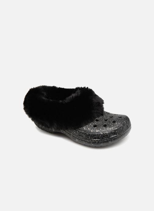 Wedges Crocs Classic Mammoth Luxe Radiant Clog Zwart detail