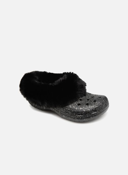 Wedges Crocs Classic Mammoth Luxe Radiant Clog Zwart detail