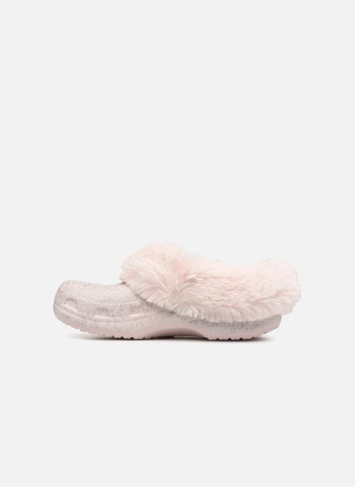 Zoccoli Crocs Classic Mammoth Luxe Radiant Clog Rosa immagine frontale